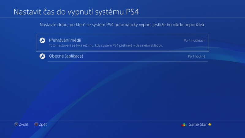 Nastavení úspory energie na PS4 - 3