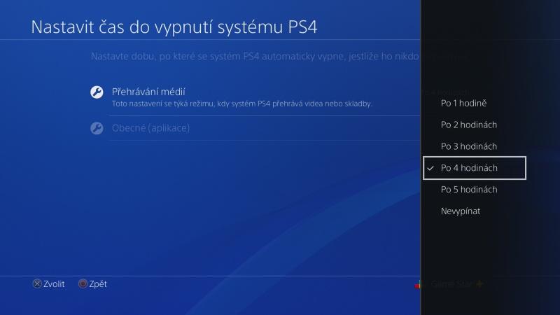 Nastavení úspory energie na PS4 - 4