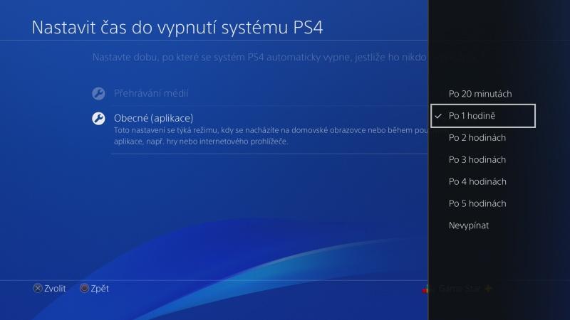 Nastavení úspory energie na PS4 - 7