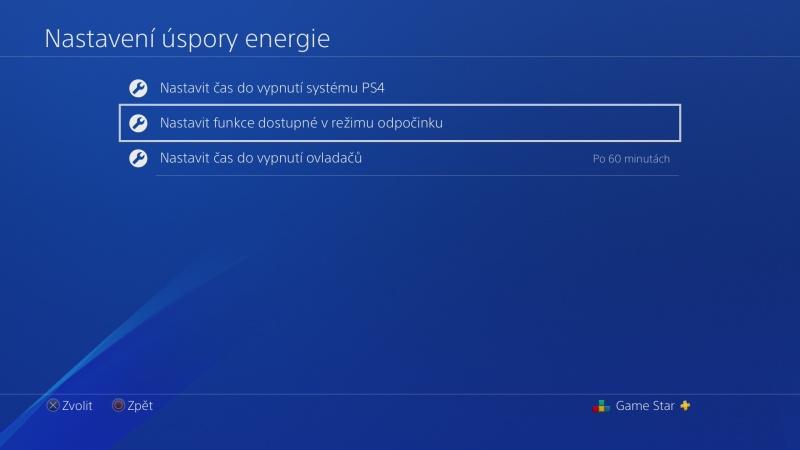 Nastavení úspory energie na PS4 - 8