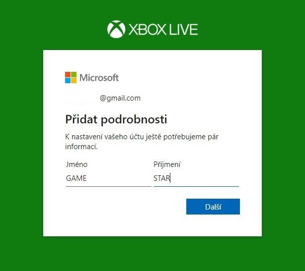 Změna jména na Xbox účtu 3