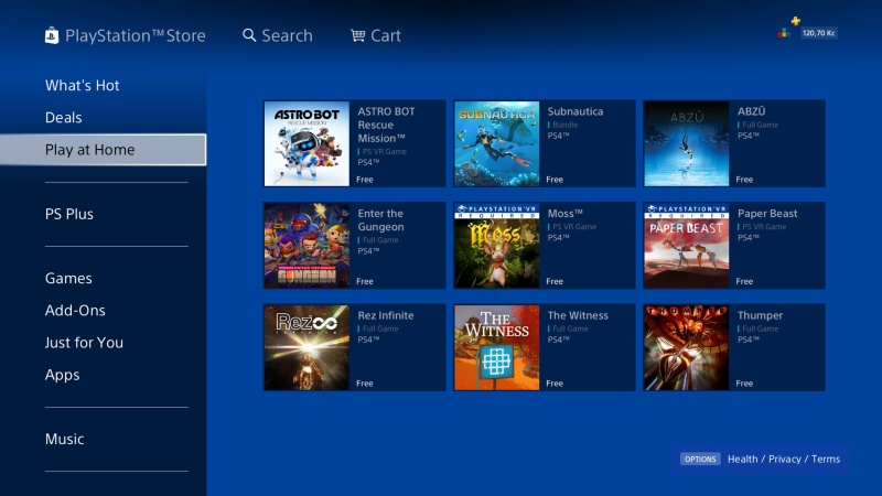 PS Store Play at Home