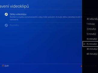 Délka videoklipu na PS4 2