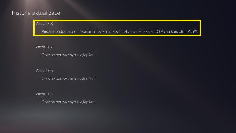 Jak aktualizovat hru na Playstation 5 - 5