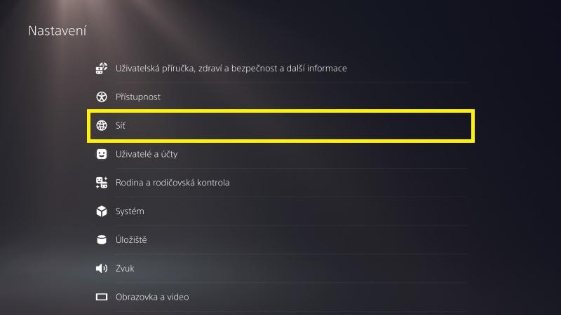 Jak nastavit Wi-Fi na herní konzoli PS5 - 2