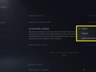 Jak snížit jas na PS5 ovladači DualSense - 3