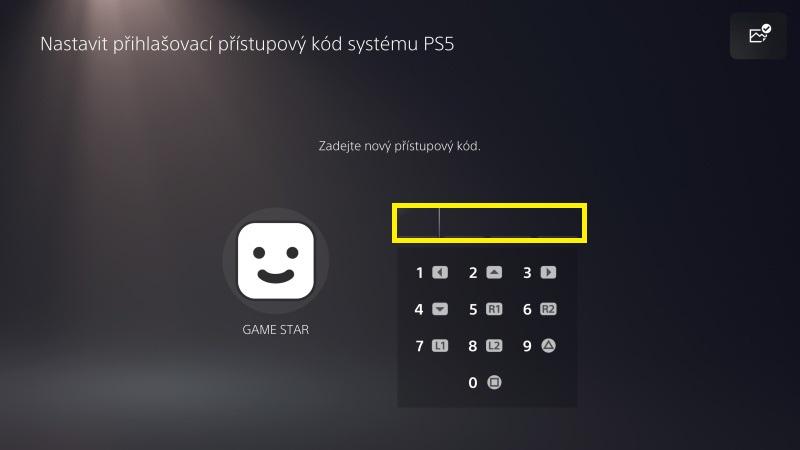 Jak nastavit přihlašovací heslo do PS5 - 2