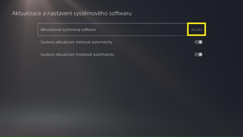 PS5 aktualizace systémového software 10