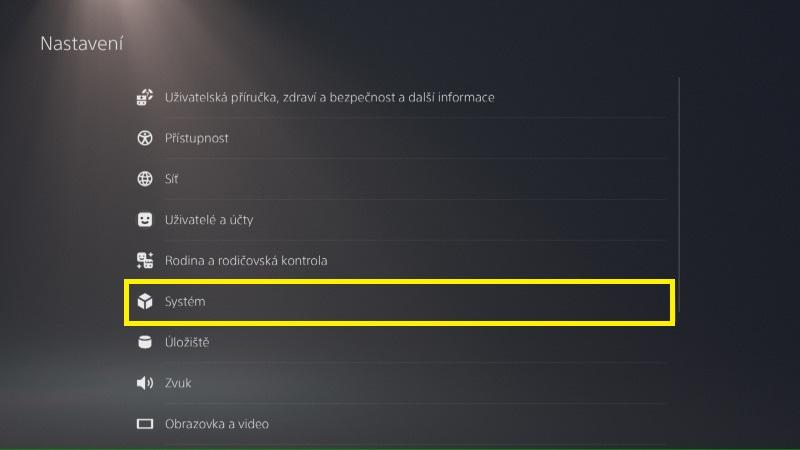 PS5 aktualizace systémového software 2