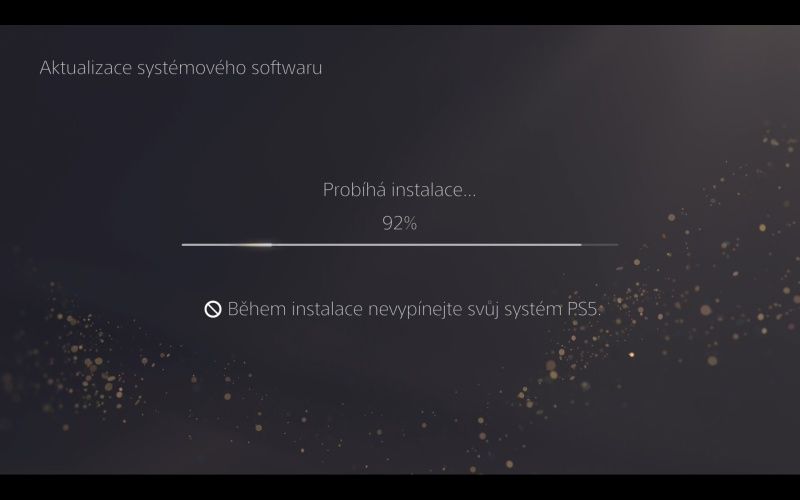 PS5 aktualizace systémového software 8