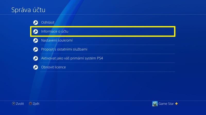 Jak změnit email na PS4 - 3