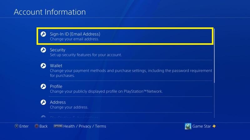 Jak změnit email na PS4 - 4