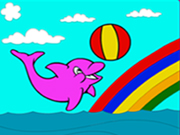 Cute Dolphin Coloring